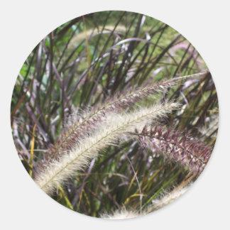 A type of wild grass round sticker