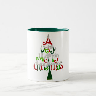 A Very Merry Christmas Two-Tone Mug