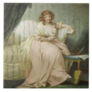 A Woman Called Anne, the Artist's Wife, c.1790-180 Large Square Tile