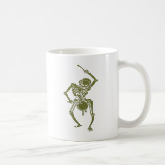 A Zombie Undead Skeleton Marching and Beating A Dr Basic White Mug