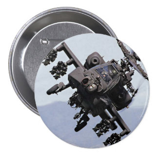 Aapache Attack Helicopter 7.5 Cm Round Badge
