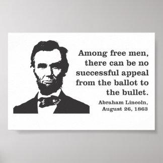 Abraham Lincoln Democracy Poster