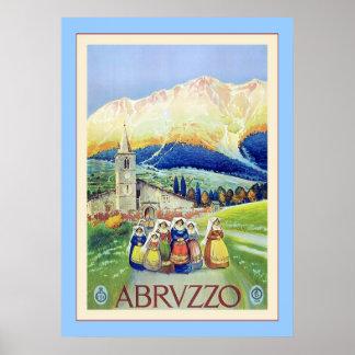 Abruzzo ~ Vintage Italian Travel Poster