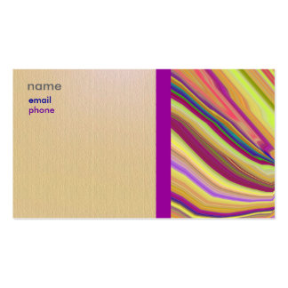 Abstract and Striking Artistic Business Card