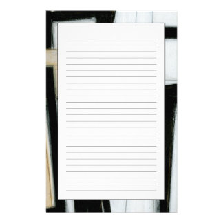 Abstract Black & White Painting Stationery Paper