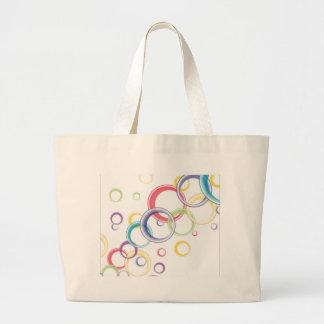 Abstract Circular Background Jumbo Tote Bag