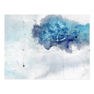 Abstract Colbalt Blue 1 Postcard