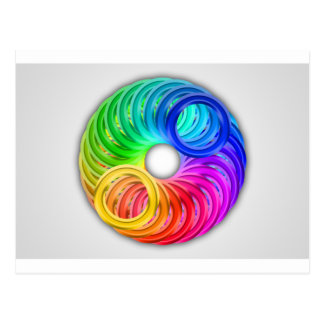 Abstract color design art postcard
