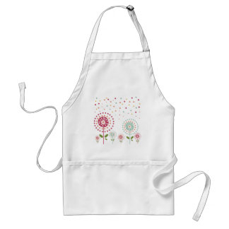 abstract colorful dandelion flowers dots standard apron