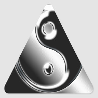 Abstract Cool Chrome Ying Yang Triangle Sticker