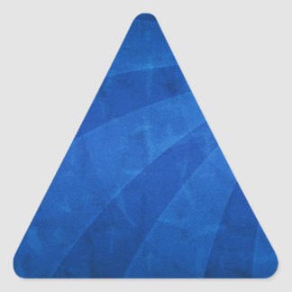 Abstract Cool Moon Traveller Triangle Sticker