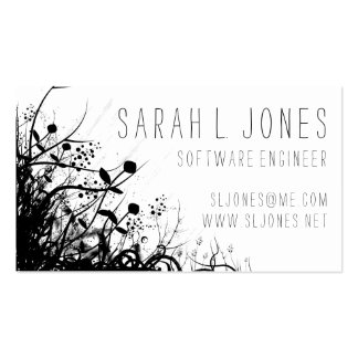 Abstract Floral Modern Swirl Vines Business Cards