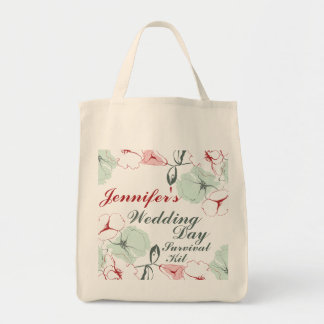 Abstract Floral Wedding Day Survival Kit Bag