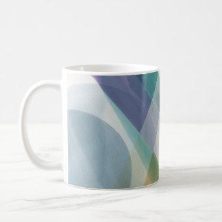 Abstract Geometric Shapes Watercolor Basic White Mug