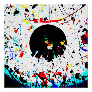 Abstract Paint Crash Poster
