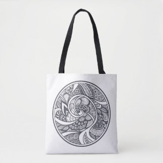 Abstract Pattern In Zen-Doodle Style 2 Tote Bag