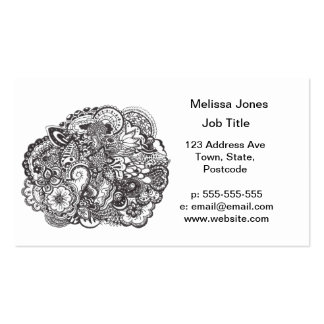 Abstract pen and ink doodle pack of standard business cards