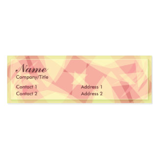 ABSTRACT ROSA PROFILE CARD PACK OF SKINNY BUSINESS CARDS
