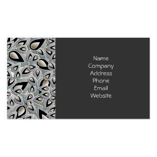 Abstract Teardrop Leaf Business Card