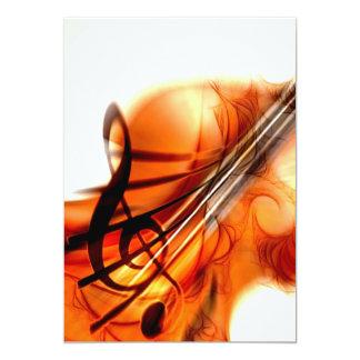 Abstract Violin Art 13 Cm X 18 Cm Invitation Card