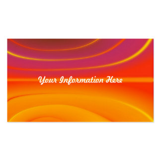 abstract waves orange business cards