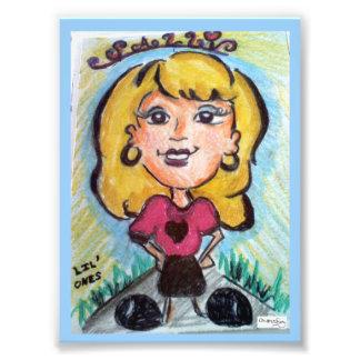 """ACEO """"Sally Cartoon"""" Original Artwork """"Lil Ones"""" Photo"""