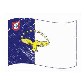 Acores flag postcard