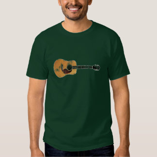 Acoustic Guitar horizontal (distressed) Tees