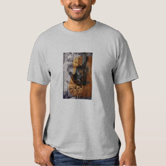 acoustic guitar urban collage t shirts