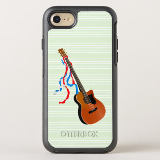 Acoutic Bass Guitar American Music OtterBox Symmetry iPhone 7 Case