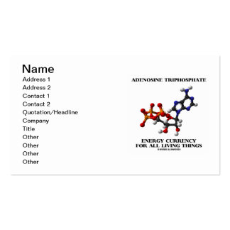Adenosine Triphosphate Energy Currency For All Pack Of Standard Business Cards