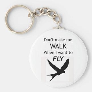ADHD Keyring -  I want to FLY Motivational Inspira Basic Round Button Key Ring