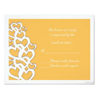 adinkra akoma (heart) beeswax rsvp 11 cm x 14 cm invitation card
