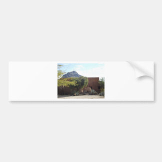 Adobe Building with Trees Bumper Sticker