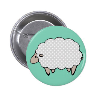 Adorable Cute Polkadot Grey Sheep 6 Cm Round Badge