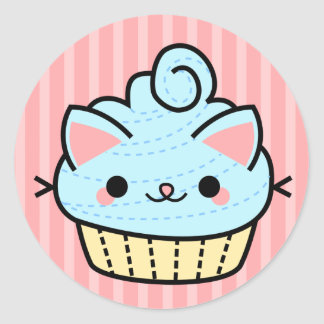 Adorable Kawaii Cupcake Sticker