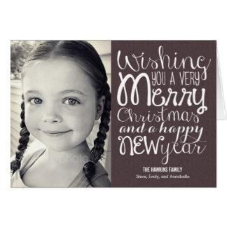 Adorable Message Christmas Photo Card
