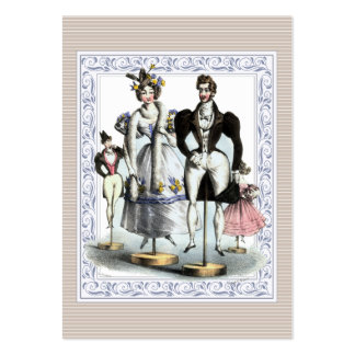 Adorable Vintage French Fashion Family of Dolls Pack Of Chubby Business Cards