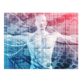 Advanced Technology and Science Abstract Postcard