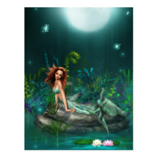 Adventurine Mermaid Postcard