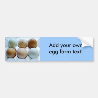 Advertise your Free Range Egg Farm! Bumper Sticker