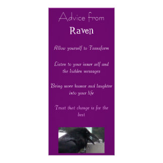Advice from a Raven Spirit bookmark Full Color Rack Card