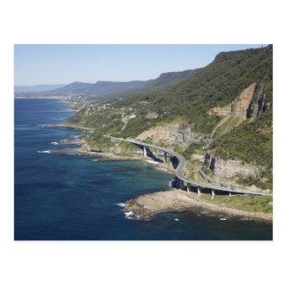 Aerial view of Sea Cliff Bridge near Wollongong, 2 Postcard