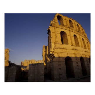 Africa, Tunisia, El Jem. Ruins of a Roman Poster