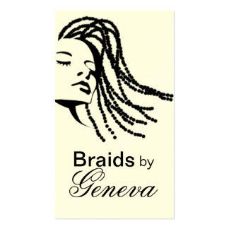 Afrocentric Braids Hair Stylist - black Pack Of Standard Business Cards