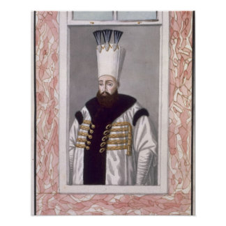 Ahmed III (1673-1736) Sultan 1703-30, from 'A Seri Poster