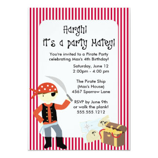 {ahoy, matey!} pirate party invitation
