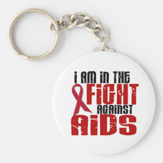 AIDS HIV In The Fight 1 Basic Round Button Key Ring