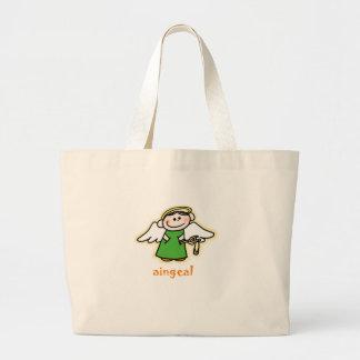aingeal (little angel in Irish) Jumbo Tote Bag