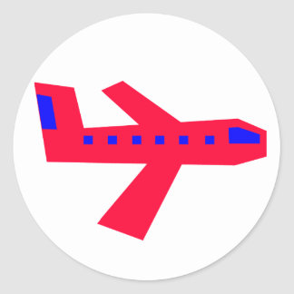 Airplane Round Sticker